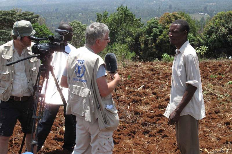 Cameraman Bart Sels in Afrika
